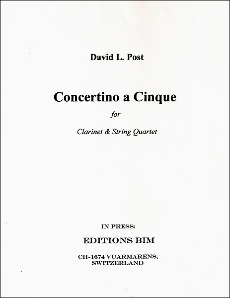 Concertino a Cinque for Clarinet and String Quartet (2010) recording