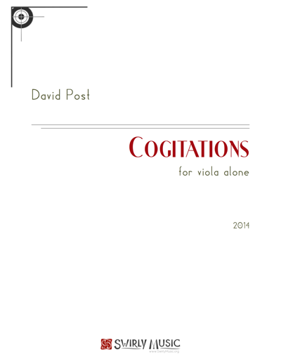 Cogitations, for Viola Alone (2014) recording