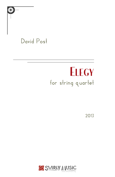 Elegy for String Quartet (2013) recording