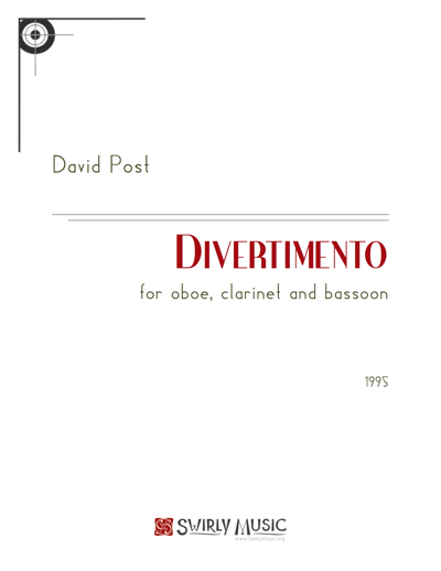 Divertimento for Oboe, Clarinet in Bb and Bassoon (1995) recording